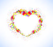 Abstract vector colorful heart shape background Royalty Free Stock Image