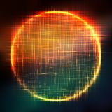 Abstract vector colorful mesh background. Black hole or singularity. Futuristic technology style. Elegant background for business presentations. Flying debris Stock Photography