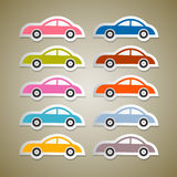 Abstract Vector Colorful Paper Cars Royalty Free Stock Photo