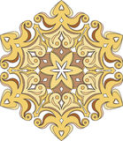 Abstract vector colorful round lace design in mono line style -. Mandala, decorative element in bright colors vector illustration
