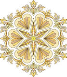 Abstract vector colorful round lace design in mono line style -. Mandala, decorative element in bright colors royalty free illustration