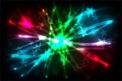 Abstract vector colorful shaded background with lighting effect, vector illustration Royalty Free Stock Image