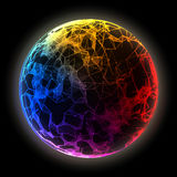 Abstract vector colorful sphere. Futuristic techno style. Royalty Free Stock Image