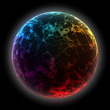 Abstract vector colorful sphere. Futuristic techno style. Royalty Free Stock Photo