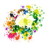 Abstract Vector Colorful Splashes. On White Background stock illustration
