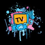 Abstract vector colorful TV illustration. Stock Image