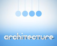 Abstract Vector Combination of Word Architecture Royalty Free Stock Image