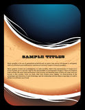 Abstract vector composition Stock Image