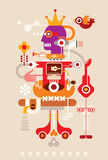 Abstract vector composition Royalty Free Stock Images