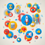 Abstract vector concept with flat business and Royalty Free Stock Photo