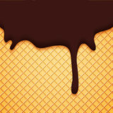 Abstract Vector Cover with Chocolate Ice Cream Royalty Free Stock Image