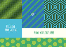 Abstract vector creative template, color blocking flat backgroun Royalty Free Stock Images