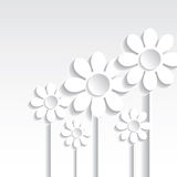 Abstract Vector 3D flowers background Royalty Free Stock Photography
