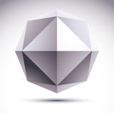 Abstract vector 3D geometrisch voorwerp Stock Afbeeldingen