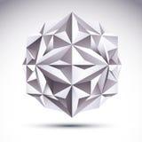 Abstract vector 3D geometrisch voorwerp, duidelijke eps 8 Stock Fotografie