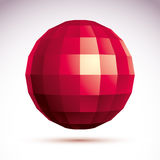Abstract vector 3D object, clear eps 8. Royalty Free Stock Photography