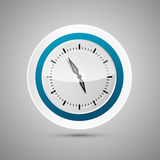 Abstract Vector 3d Paper Blue and White Clock Royalty Free Stock Photography