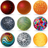 Abstract Vector 3D Spheres. Design Concept. Abstract Vector 3D Spheres. Design Concept Set Royalty Free Stock Photos