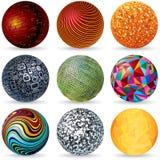 Abstract Vector 3D Spheres. Design Concept. Royalty Free Stock Photos