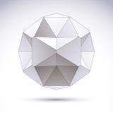 Abstract vector 3D voorwerp, duidelijke eps 8 Royalty-vrije Stock Afbeelding