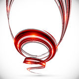 Abstract vector dark red spiral background Royalty Free Stock Image