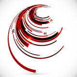 Abstract vector dark red spiral background Stock Photography