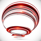Abstract vector dark red spiral background Stock Images
