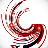 Abstract vector dark red spiral background Stock Image