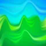 Abstract vector de zomerlandschap met rimpelingen Royalty-vrije Stock Fotografie