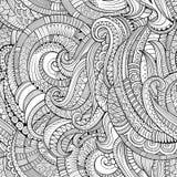 Abstract vector decoratief hand getrokken aard bloemen eamless patroon Stock Afbeeldingen