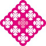 Abstract vector decoration. Decor element with rounded border in pink and purple (magenta) colours Royalty Free Stock Photo