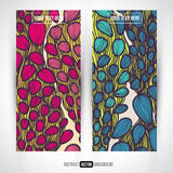 Abstract vector decorative banners set Royalty Free Stock Photography