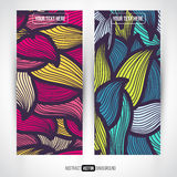 Abstract vector decorative banners set Stock Image