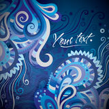 Abstract vector decorative card design Stock Images
