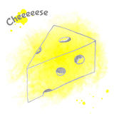 Abstract vector decorative cheese sketch Stock Photo