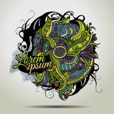 Abstract vector decorative doodles background. Stock Image