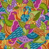 Abstract vector decorative ethnic floral colorful seamless. Pattern Stock Photo