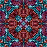 Abstract vector decorative ethnic floral seamless Stock Photography