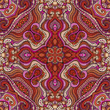 Abstract vector decorative ethnic floral seamless Royalty Free Stock Photo