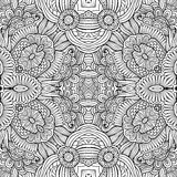 Abstract vector decorative ethnic floral seamless Stock Photos