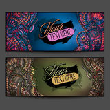 Abstract vector decorative ethnic ornamental backgrounds. Series of image Template frame design for card Stock Images
