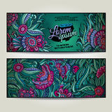 Abstract vector decorative floral backgrounds Royalty Free Stock Image