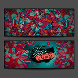 Abstract vector decorative floral ornamental backgrounds. Series of image Template frame design for card Stock Images