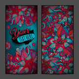Abstract vector decorative floral vertical backgrounds Stock Photos