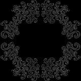 Abstract vector decorative frame with curling shapes Royalty Free Stock Photos