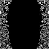 Abstract vector decorative frame with figured lacy borders Royalty Free Stock Images