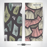 Abstract vector decorative vertical banners set Stock Photography