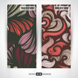 Abstract vector decorative vertical banners set Royalty Free Stock Photos