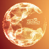 Abstract vector demolished sphere background Royalty Free Stock Images
