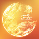 Abstract vector demolished sphere background Stock Photo
